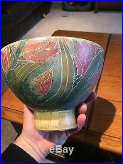 Rare Vintage T & S Harlander Studio Pottery Bowl Brooklin ON 81/3 Diameter 53/4