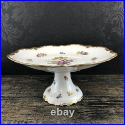 Reichenbach Vintage Fine China Lot Of 4 Cake Stand Platter Bowl Dish Tray GDR