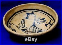 Replica Vintage Antique Circa 1870 1880 Hopi Indian Style Pottery Bowl