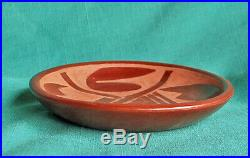 Rose Gonzales Vintage San Ildefonso Pueblo Pottery Redware Bowl Old Indian Pot