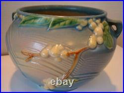 Roseville Blue Snowberry IJ-6 Jardiniere Bowl VG 1946 Vintage