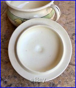 Roseville Juvenile Pottery Baby Chicks Chamber Pot Bowl with Lid Vintage Rare