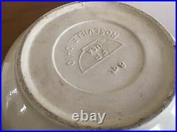 Roseville Pottery Blue Stripe Extra Large 8 QT Mixing Bowl USA 14 RARE Vtg Ohio