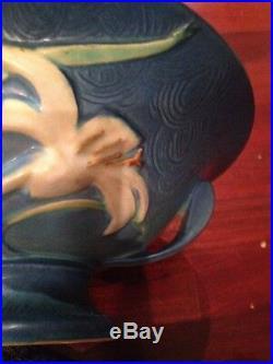 Roseville Pottery Blue Zephyr Lily Bowl Vase 8-10 1940's Vintage