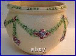 Roseville Pottery La Rose Planter Centerpiece Bowl Vintage Rv Marking Large
