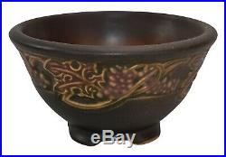 Roseville Pottery Rosecraft Vintage Brown Ceramic Bowl 140-4