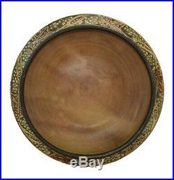 Roseville Pottery Rosecraft Vintage Brown Ceramic Bowl 142-6