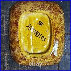 STUNNING Vintage retro Mid Century SMF Schramberg Majolika fish plate bowl tray