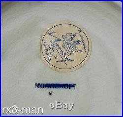 SUPERB VINTAGE MOORCROFT PANSY PATTERN BLUE LIDDED BOWL c1950s