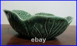 Set Of 7 BORDALLO PINHEIRO 7 Cabbage Leaf Majolica BOWLSPortugalNICE! Vintage
