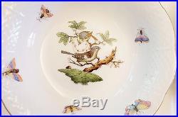 Set of 12 Fruit Bowls 6.5 HEREND Hungary Rothschild Bird Vintage Varied LOT Sm