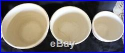 Set of 5 McCoy Pottery PINK & BLUE STRIPES MIXING BOWLS 9 8 7 6 5 VINTAGE