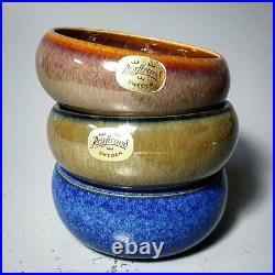 Set of Vintage Rorstrand Jackie Lynd Vintage Bowls 3 pcs MCM Signed Excellent