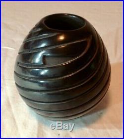 Signed Denise Chavarria Santa Clara Pueblo Vintage Small Bowl Pot 4x3 1/4