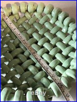 Stunning Large Vintage Majolica Vallauris Weave Lattice Bowl Signed Frume Massy