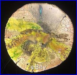 Stunning R. S. Peel Studio Glazed Ceramic Pottery Bowl 17 VTG GRN Modern Art