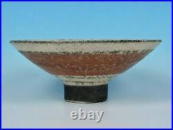 Stunning Robin Welch Vintage Studio Pottery Raku Style Footed Flared Bowl Look