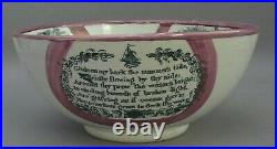Sunderland Lustre Punch Bowl Pottery, Bridge River Ware 1840. Victorian