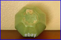 Terrific Vintage Haeger Pottery Bowl Geranium Leaf Green Frosted Matte #E-401