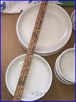 Trend Pacific GALAXY Vintage Midcentury Plates Bowls Mugs Stoneware Set Heavy
