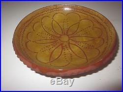 Vintage Greenfield Village Glazed 6 Brownware Dish Bowl Handmade