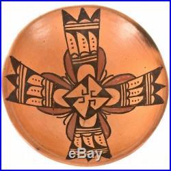 VINTAGE Hopi Pueblo AZ Polychrome Bowl Whirlwind Pattern Mid 20th Century 50's