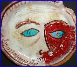 Vintage Italian Pottery Sculpture Bowl E Pattarino Rare MID Century Modern Italy