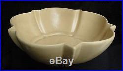 Vintage Large 1930's Catalina Island Ca Art Pottery Tan Starlight Serving Bowl