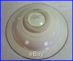 Vintage Large Midcentury Style Erotic Art Pottery Bowl Nude Female Figure