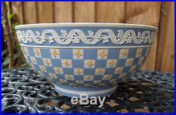 Vintage Large Wedgwood Tri Coloured Jasperware Engine Turned Bowl C1978