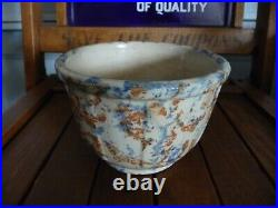 VINTAGE MINN POTTERY FARM HOUSE KITCHEN BANDED SPONGEWARE RED WING BOWL small 5