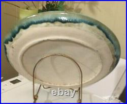 VINTAGE McCarty Pottery JADE GLAZE 13 HANDMADE McCarty PLATTER PLATE /CHARGER