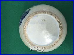 VINTAGE OLD SLEEPY EYE BOWL SALT CROCK Ware POTTERY MONMOUTH ILL 1905