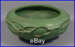 Vintage Peters & Reed Ohio Pottery Bowl Vines Pereco Matte Green Arts & Crafts
