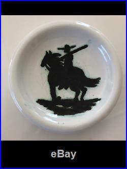 VINTAGE PICASSO PICADOR Ceramic Bowl Madoura & Edition Picasso Stamps pottery