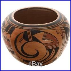 VINTAGE RARE Old Hopi Pueblo Pottery Polychrome Traditional Design Bowl 1940s
