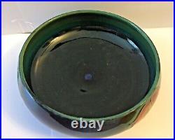 VINTAGE WILLIAM MOORCROFT BLACKBERRY LEAF BOWL 1928-35 5 1/2 W by 2 1/2 H