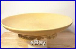 VTG Catalina Island Pottery Large 13 Footed Bowl, Colonial Yellow, Mark 725