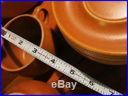 VTG Denby 28 Piece Cup Bowl Serving Dish Saucer Set England Stoneware