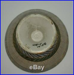 VTG Italian Pottery Aldo Londi Bitossi Seta Compote Footed Console Bowl Italy