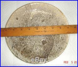 Vtg MID Century Studio Opt Art Brutalist Atomic Cookie Treat Jar Bowl Plate Set
