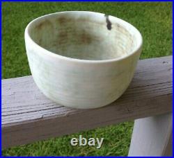 VTG. McCarty Pottery JADE BIG BOWL 5 1/2 HANDMADE McCarty OLD FASHION EXC