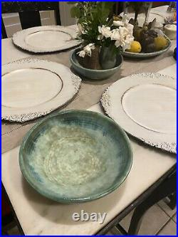VTG McCarty Pottery, Large Jade Bowl Signed/Lovely