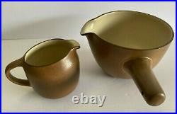 VTG Mid-Century Modern Heath Brown Pouring Bowl AND Creamer California Pottery