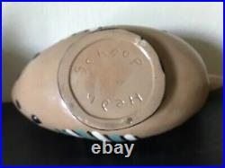 VTG Mid-Century Pottery HEDI SCHOOP 11.75 x 6 Bird Bowl Vase MINT COND