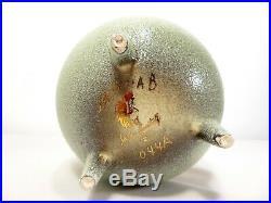 VTG Mid Century SASCHA BRASTOFF POTTERY EGG Footed LIDDED Jar Bowl ABSTRACT ART