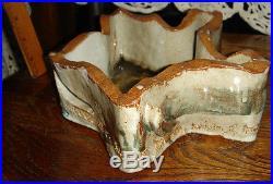 Vtg Ooak Rare Studio Pottery Atomic Falling Star Love Hope Motto Celestial Bowl