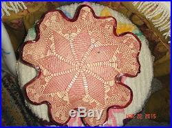 Vtg Ooak Studio Art Pottery Carved Spahgetti Mermaid Lace Fancy Ruffle Bowl Set