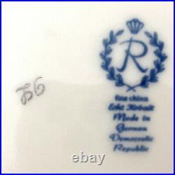 VTG Reichenbach 12qt Echt Kobalt Cobalt Blue 22K Gold Signed Covered Bowl Tureen