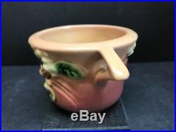 VTG Roseville USA Pink Snowberry Pottery Teapot Sugar Bowl & Creamer Set